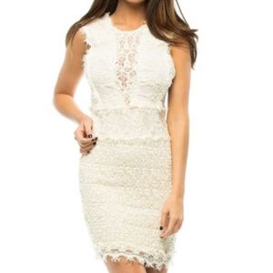 "Nightcap Clothing Cream ""Estelle"" Dress"